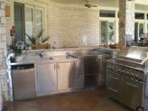 Small Stainless Steel Outdoor Kitchen