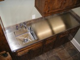 Stainless Steel Countertop with integrated sink.